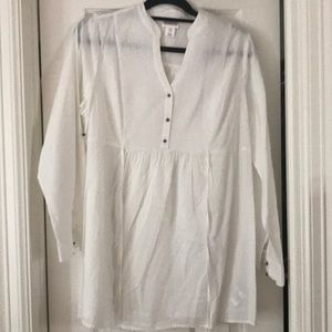 Motherhood Maternity Airy White Blouse